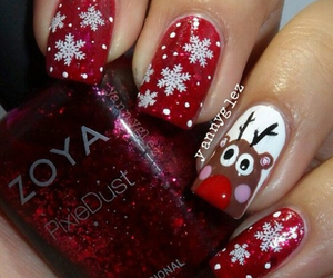 nails, christmas, and snow image