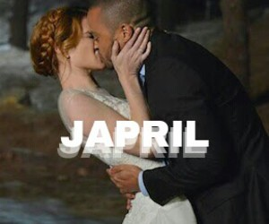 grey's anatomy, japril, and jackson and april image