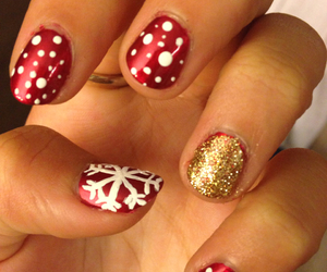 christmas, nails, and love image