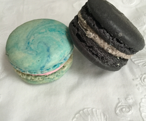 black, blue, and cotton candy image