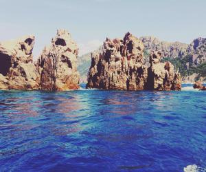sea, summer, and rock image