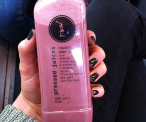 drink, pink, and tumblr image