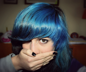 blue hair, color, and hair image