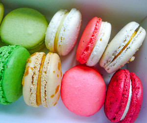 colorful, french, and macarons image