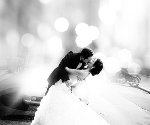 kiss, wedding, and love image