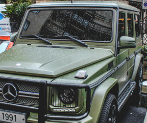 car, mercedes, and green image