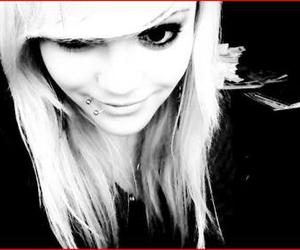blond, eye, and girl image