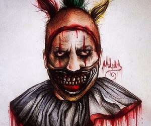 art, clown, and twisty image