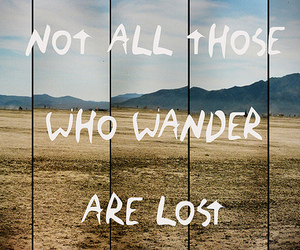 lost, wander, and quote image