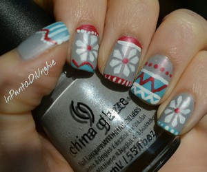 christmas, nails, and snowflakes image