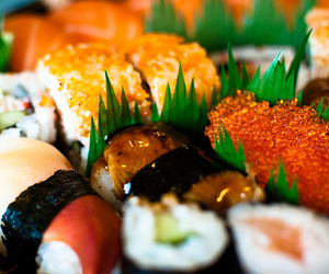 food, japanese food, and sushi image