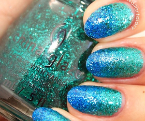 blue, glamour, and glitter image