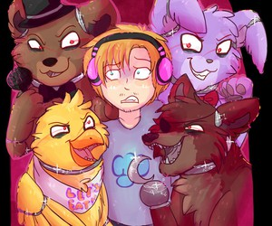 pewdiepie and five nights at freddy's image