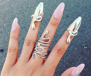 nails, accessories, and snake image