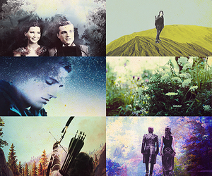 katniss everdeen, the hunger games, and peeta mellark image