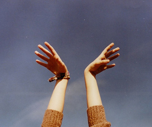 hands, sky, and indie image