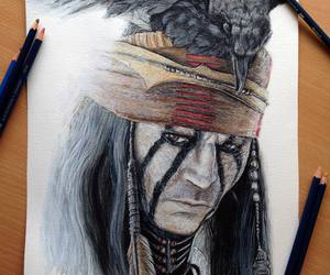 johnny depp, art, and drawing image