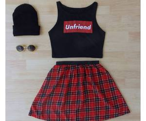 clothes, skirt, and cool image