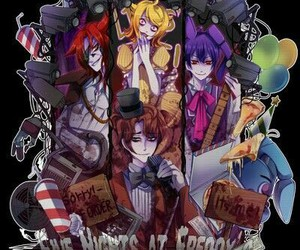five nights at freddy's, anime, and Bonnie image