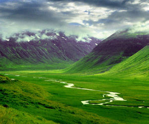 iceland, green, and landscape image