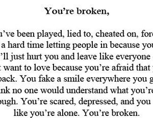 broken, lies, and quote image