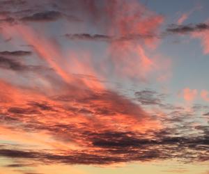 clouds, dark, and orange image