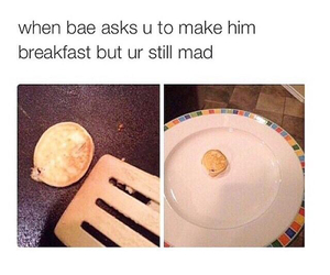 funny, bae, and breakfast image