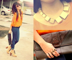 asian, necklace, and sunglasses image