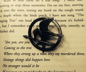 mockingjay, hanging tree, and the hunger games image