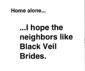 music, black veil brides, and home alone image
