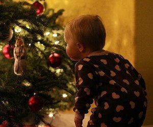 christmas, baby, and christmas tree image