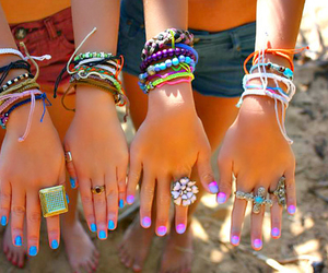 bracelets, hippie, and accsessories image