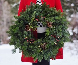 christmas, winter, and wreath image