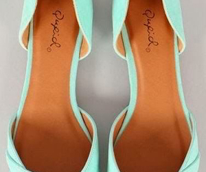flats, mint, and shoes image