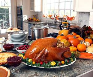 dinner, thanksgiving, and turkey image