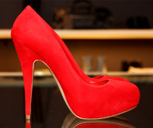 red, fashion, and high heels image