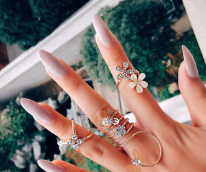 nails, jewelry, and ring image