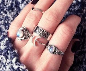 rings, moon, and nails image