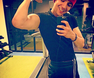 arm, muscle, and luis coronel image