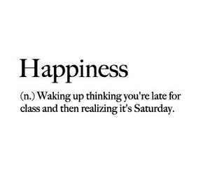 happiness, quote, and saturday image