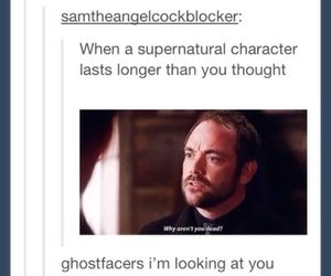 characters, crowley, and dean image