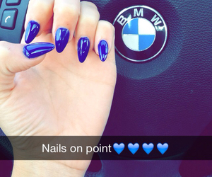 blue, bmw, and nails image