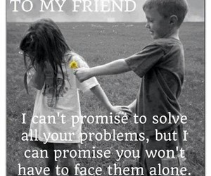 friends, promise, and friendship image