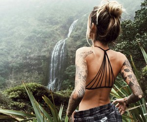 hippie, Tattoos, and nature image