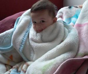 adorable, baby, and cold image