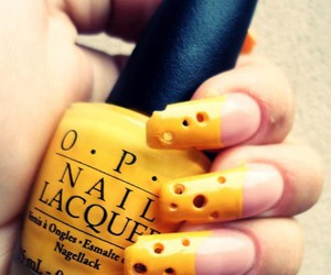 nails, cheese, and yellow image