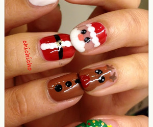 christmas, nails, and reindeer image