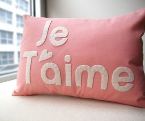 love, pink, and je t'aime image