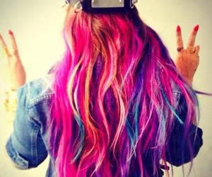 hair, demi lovato, and pink image