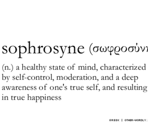 quote, sophrosyne, and happiness image